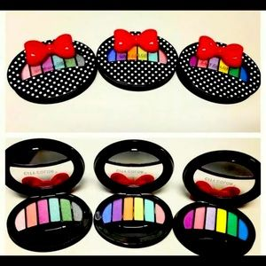 3 Pack City Color Polka Dot Bow Eye Shadow Palette